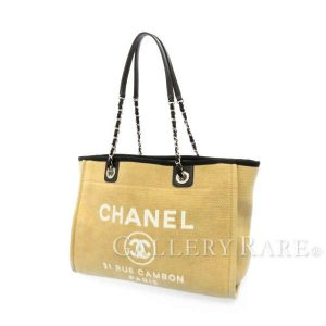 ドーヴィルライン ミディアム ショッピングバッグ キャンバス A67001